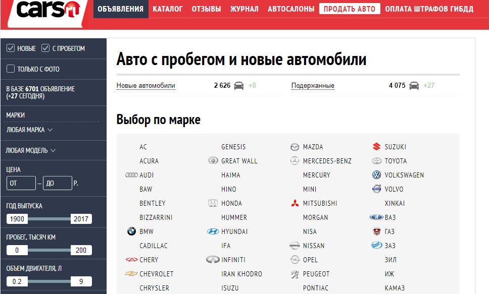 cars.ru -  - продажа авто