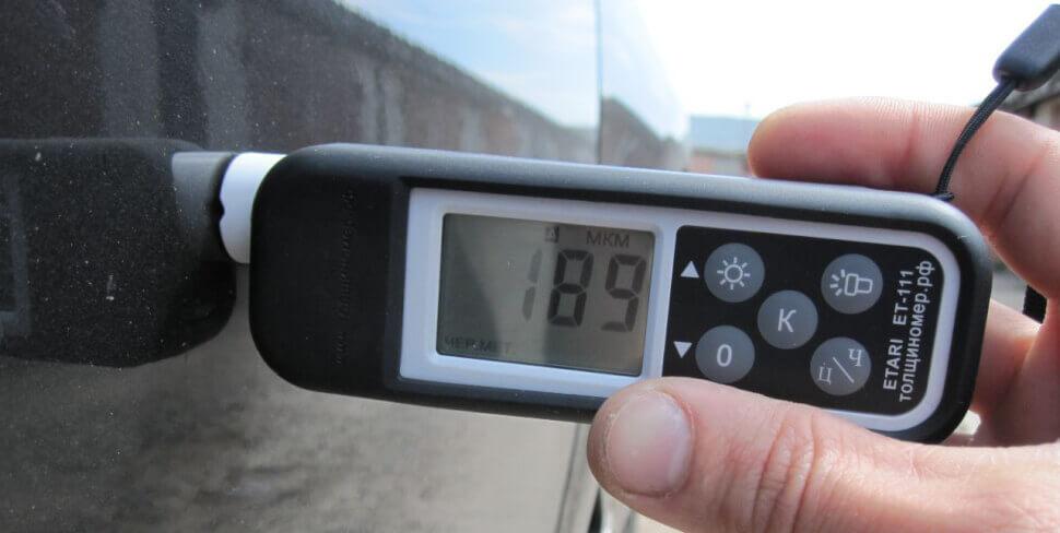 Проверка авто - использование толщинометра