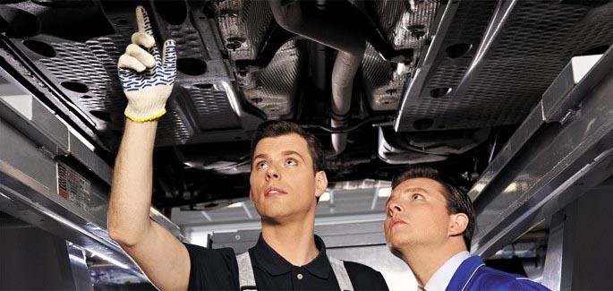 Внешний осмотр агрегатов рулевого управления авто