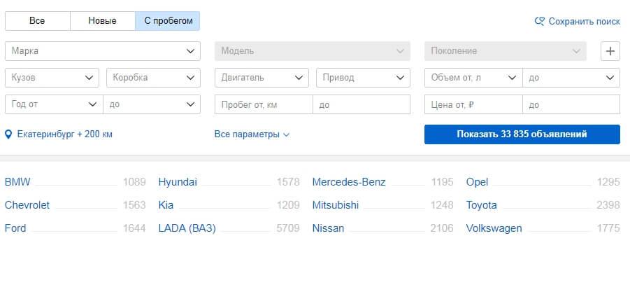 Как купить авто на авто.ру