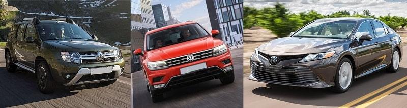 Двухлетние Renault Duster, Toyota Camry и Volkswagen Tiguan стоят дороже новых