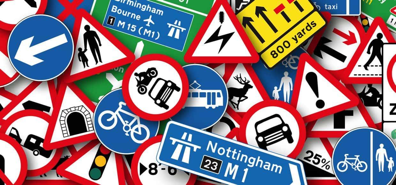 Знаки дорожного движения с обозначениями и пояснениями