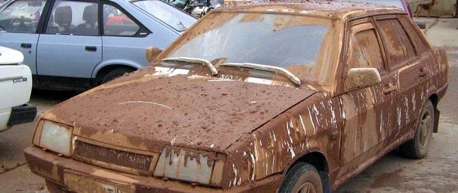 грязное авто