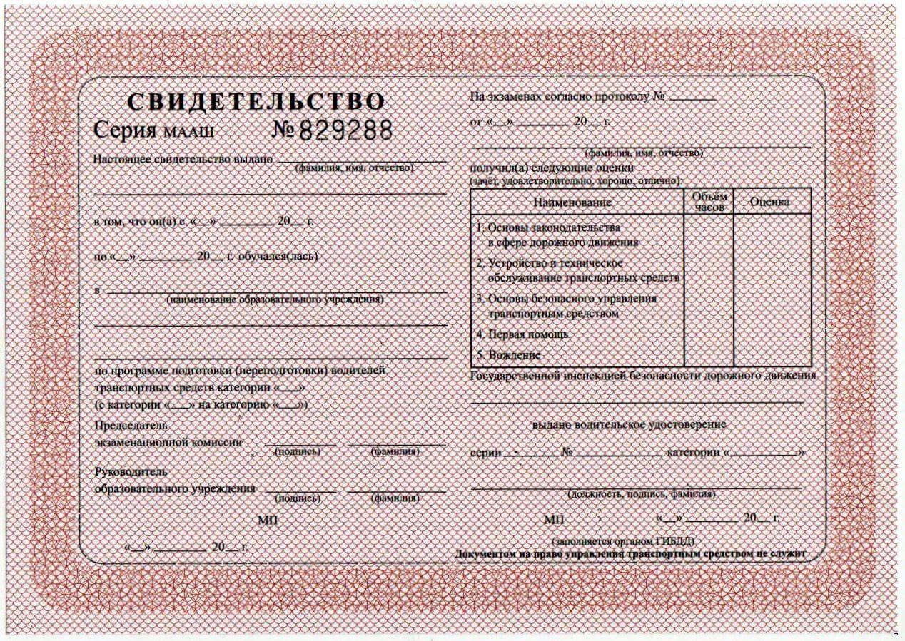 Условия получения водительских прав
