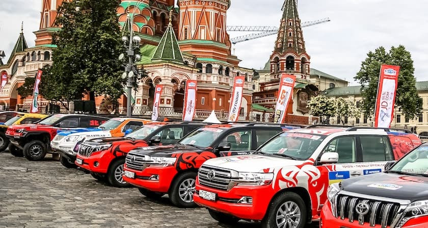 Тойота на красной площади